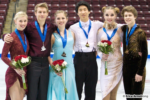 Mackenzie Bent, 15, Uxbridge & Garrett MacKeen, 18, Oshawa, (pictured left) were the silver medalists in the Junior Dance event.
