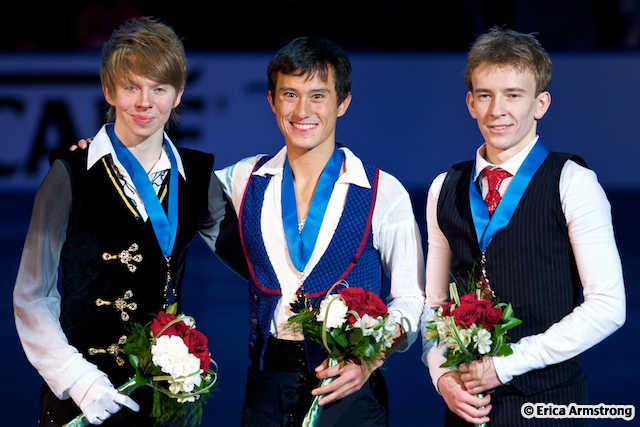 Patrick Chan, 22, Toronto, won gold and Andrei Rogozine, 19, Richmond Hill, won bronze.