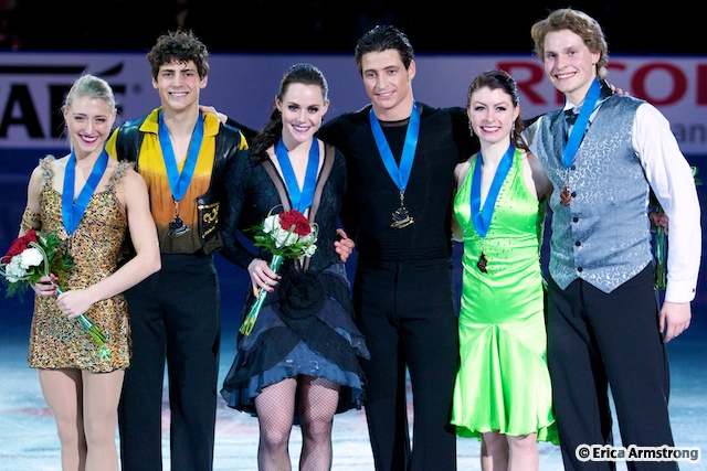 Tessa Virtue, 23, London & Scott Moir, 25, Ilderton, won gold and Piper Gilles, 20, Toronto & Paul Poirier, 21, Toronto, won silver.