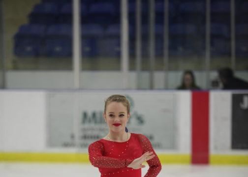 Varsity skater Katie Desveaux