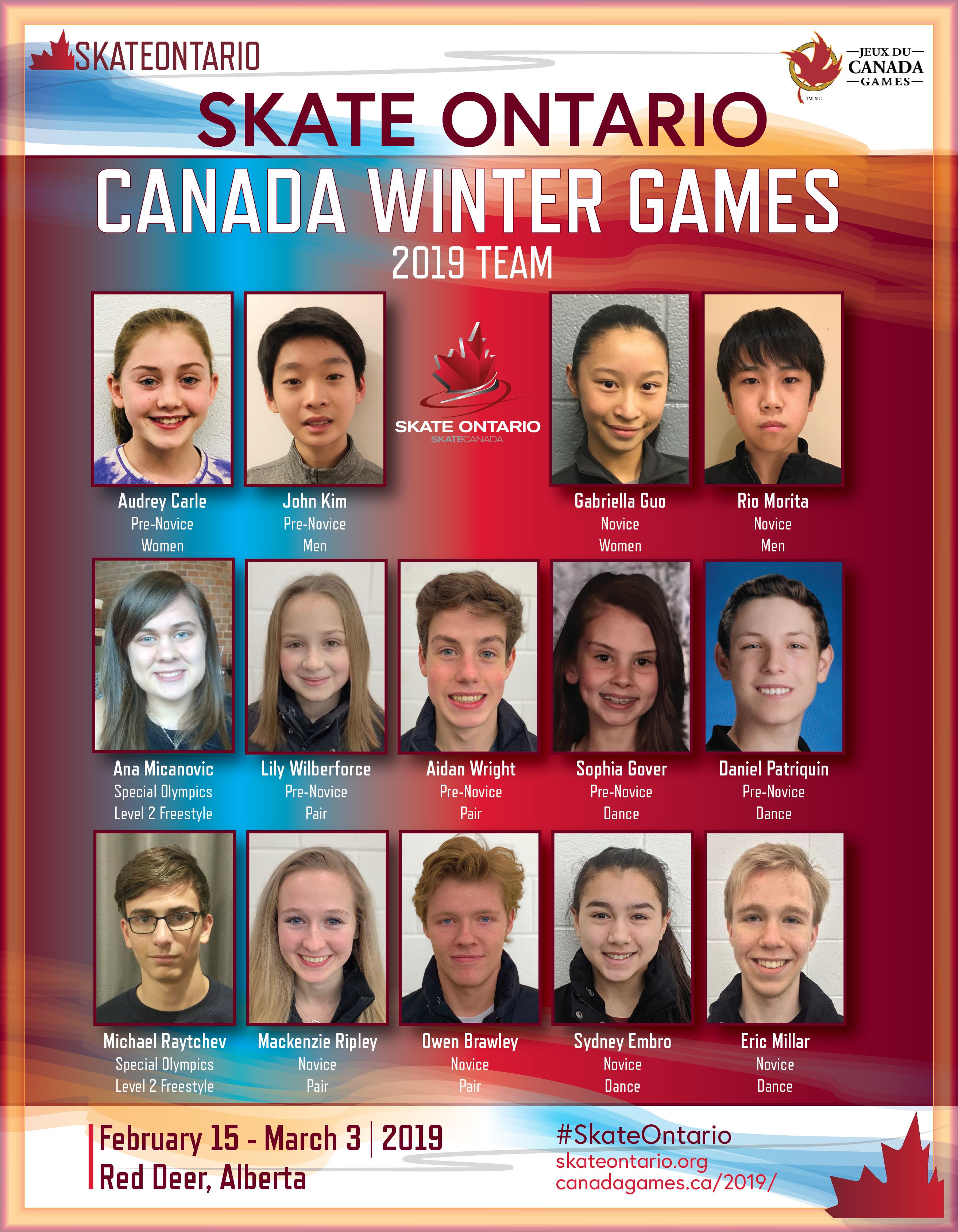 Skate Ontario 2019 CWG Team