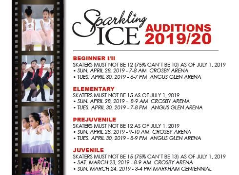 Unionville Sparkling Ice Auditions