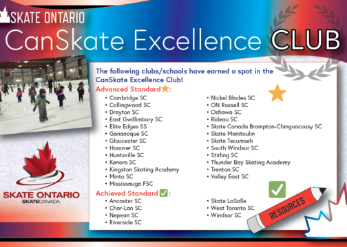 CanSkate Excellence Club – Two New Clubs Added!