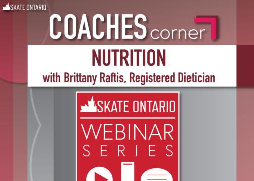 Reminder! Coaches Corner Webinar – Nutrition for Athletes