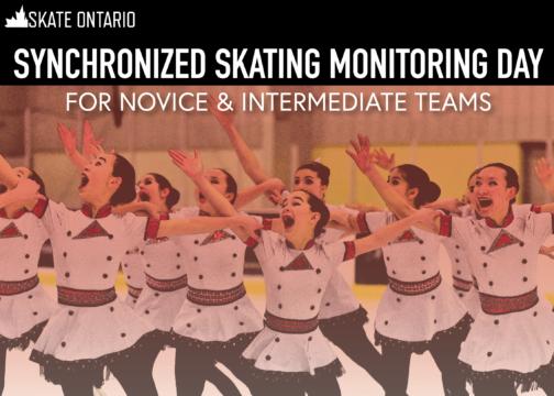 2021/2022 Synchronized Skating Monitoring Day – Novice & Intermediate